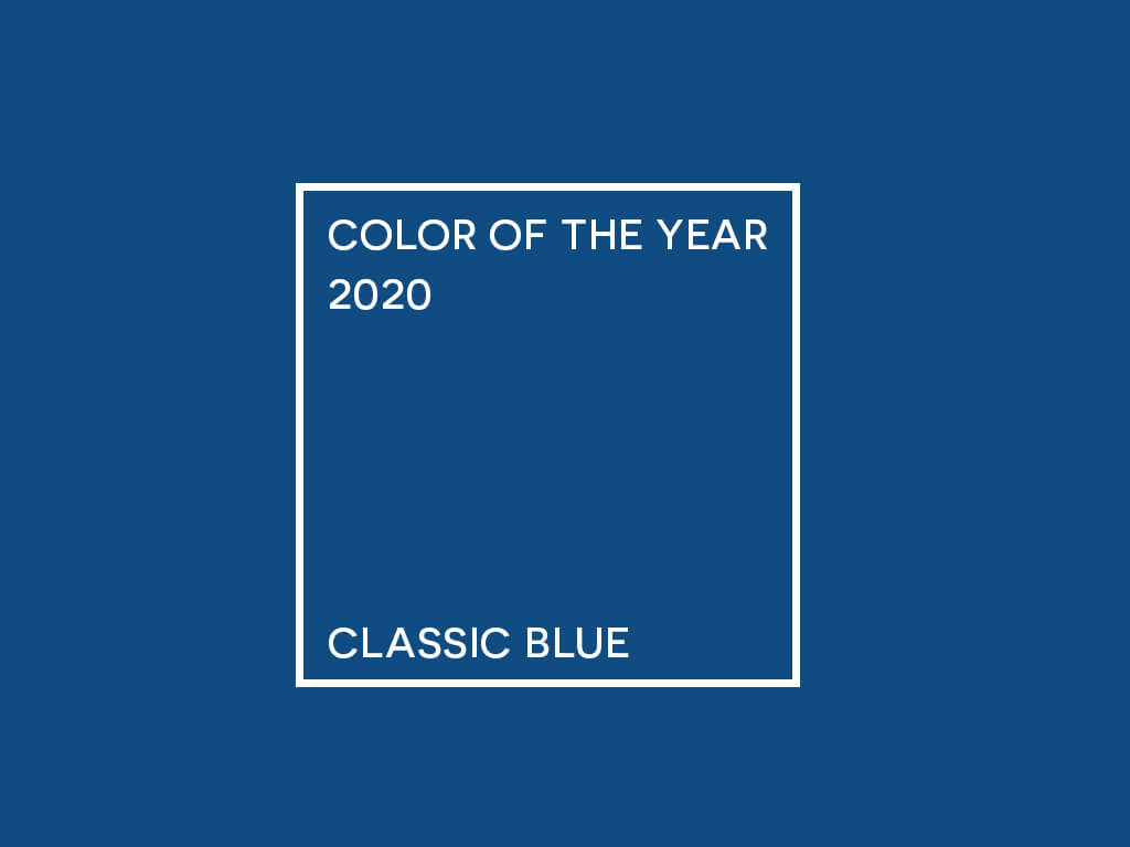 A cor do ano: Classic Blue